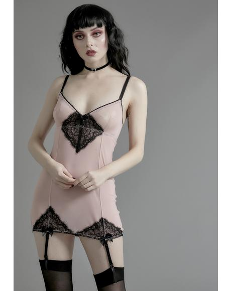 Whispered Desires Garter Nightie