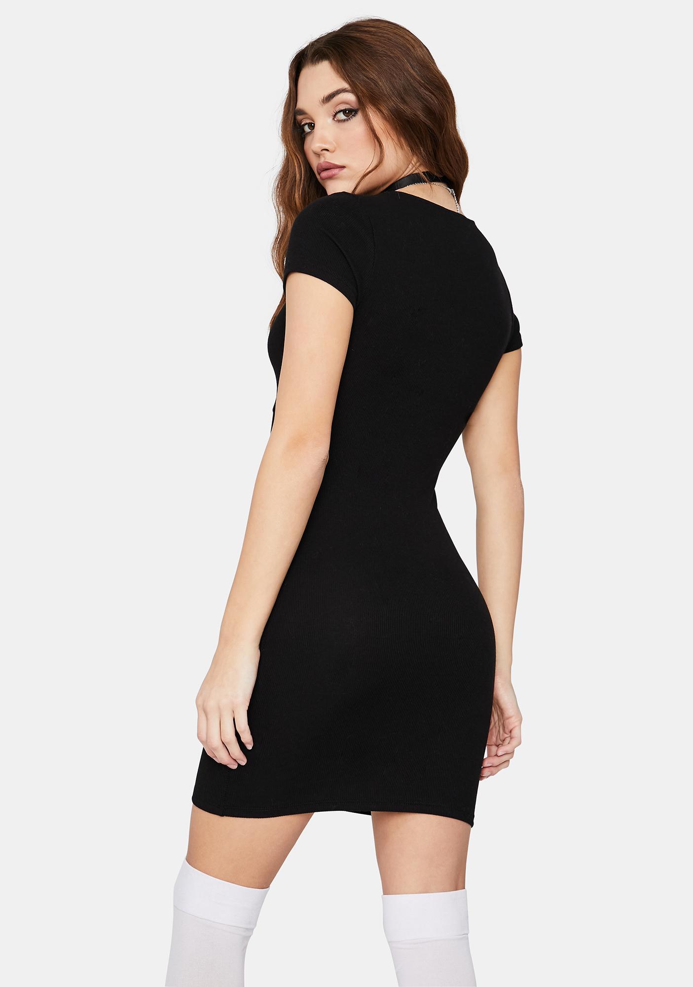 Light It Up Tie Front Mini Dress