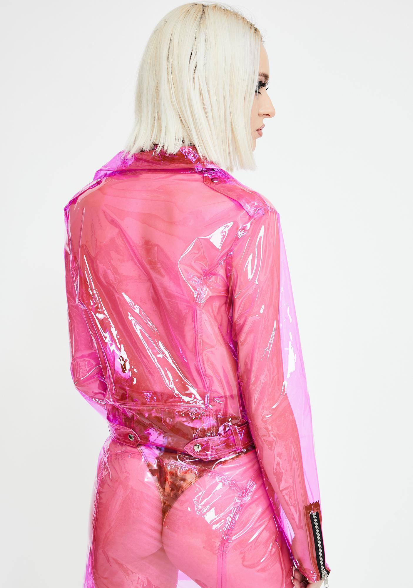 Strange Couture Rubber Soul Clear Moto Jacket