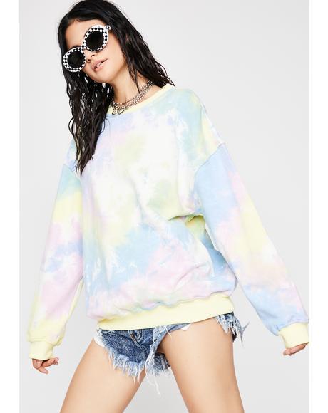 Cake Pop Tie Dye Sweatshirt