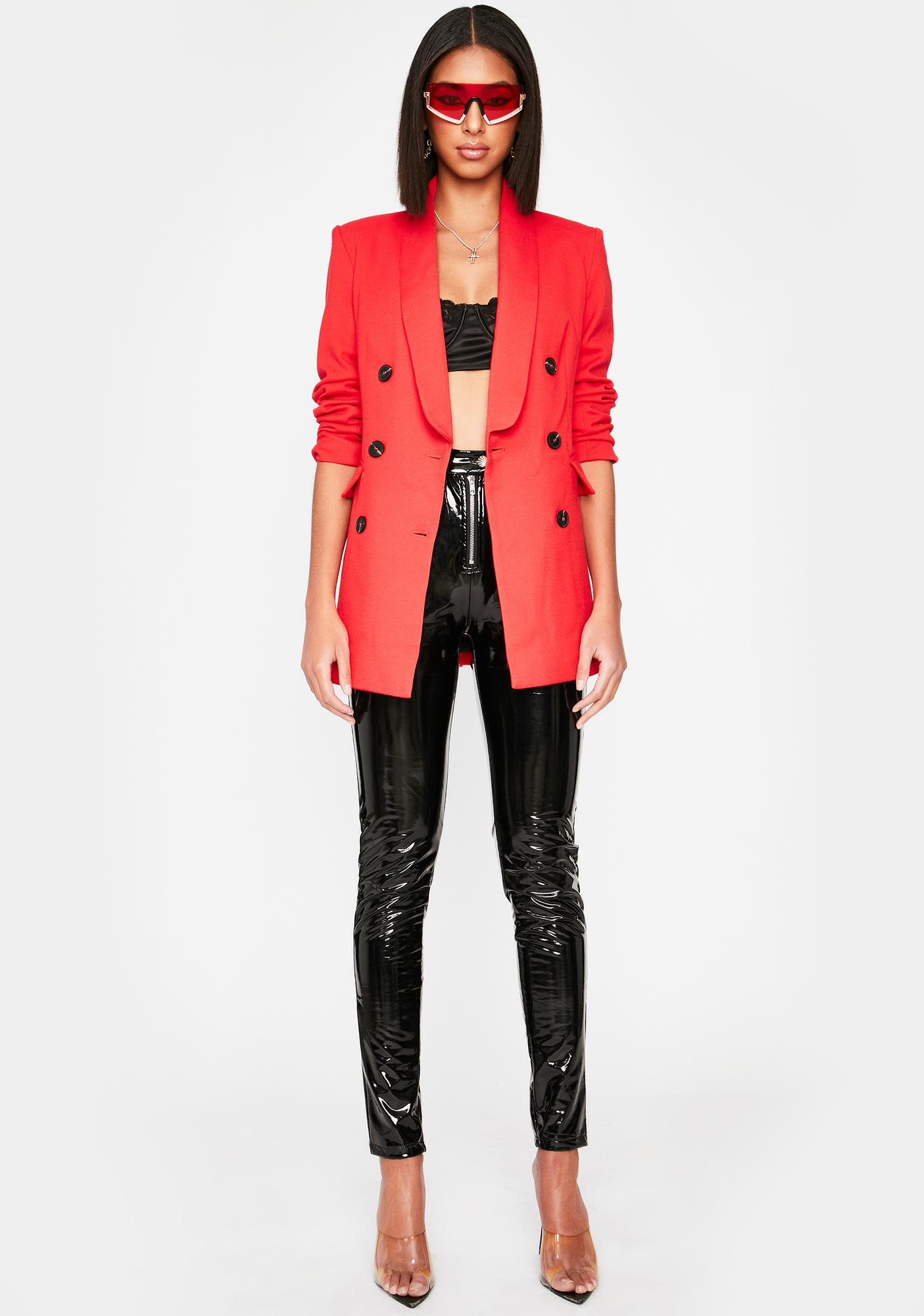 Devil In Charge Oversized Blazer