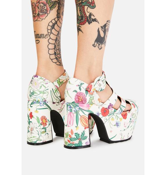 Lamoda Bliss Watch Me Bloom Platform Heels