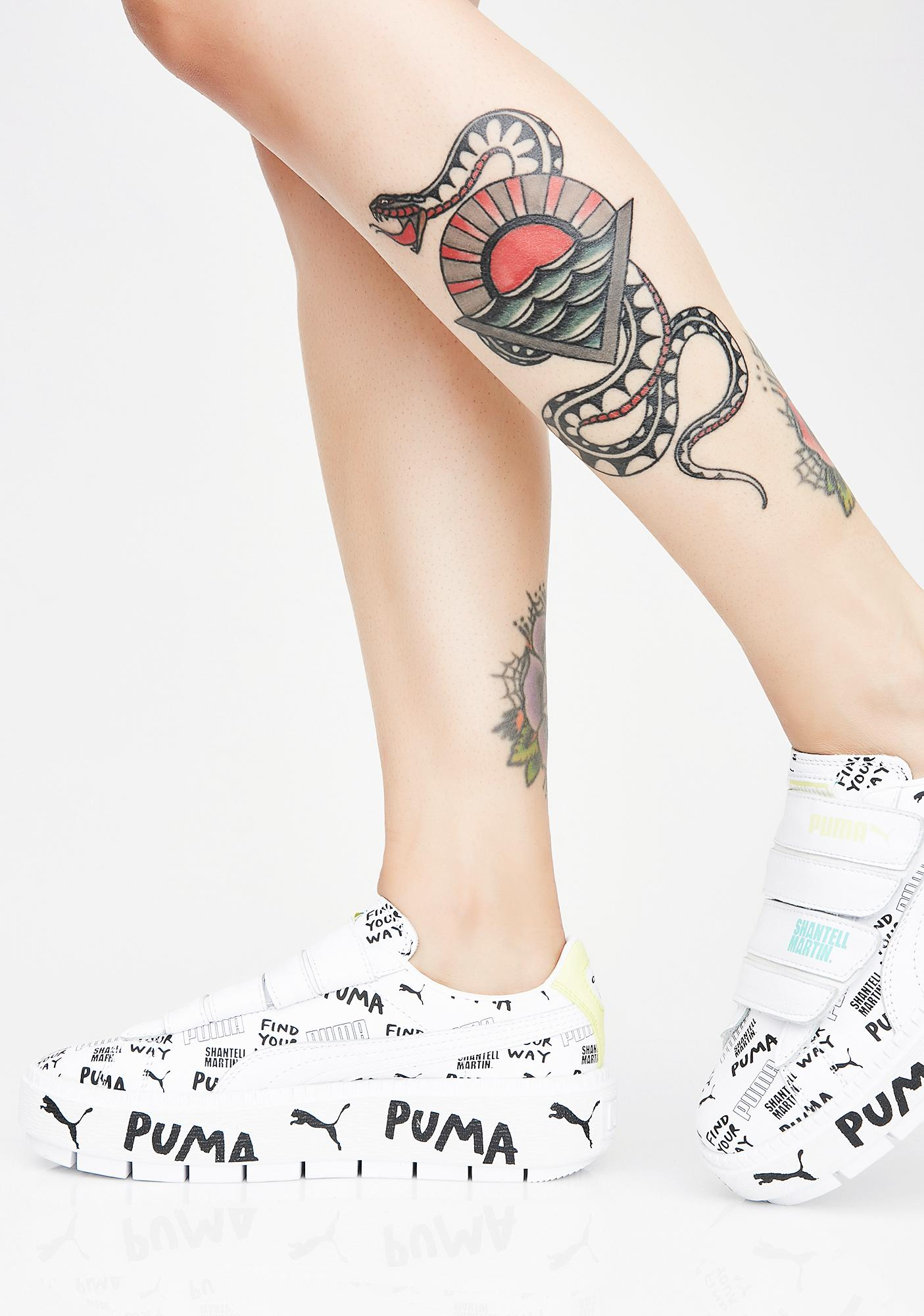 6955fb7c1107 PUMA X Shantell Martin Platform Trace Strap Sneakers