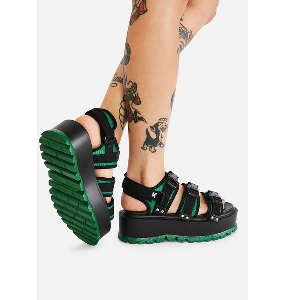 Koi Footwear Asteroid Matrix Platform Sandals