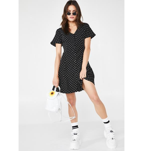 Daisy Street Polka Dot Skater Dress