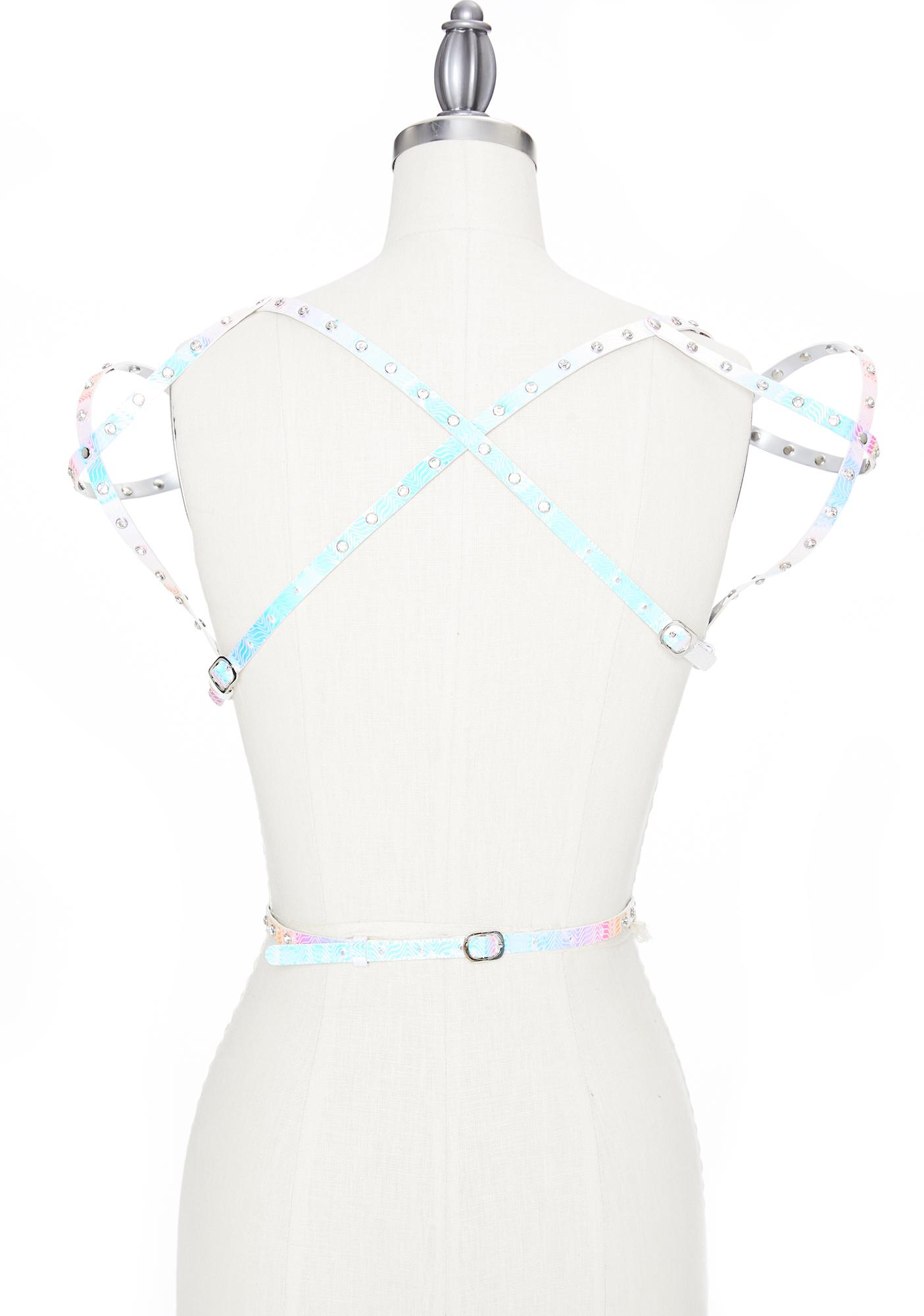 Club Exx Cosmic Warrior Holographic Harness