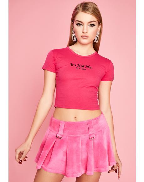 Pretty Elite Cabaret Velour Skirt