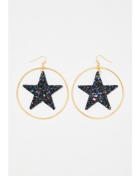 You're My Superstar Hoop Earrings