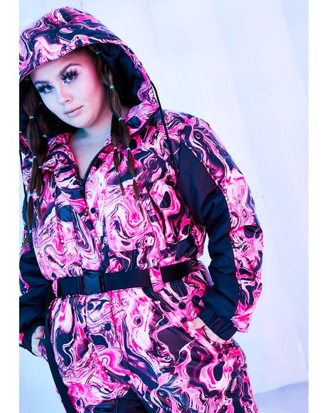 Divine Lady Acid Dimension Puffer Snowsuit