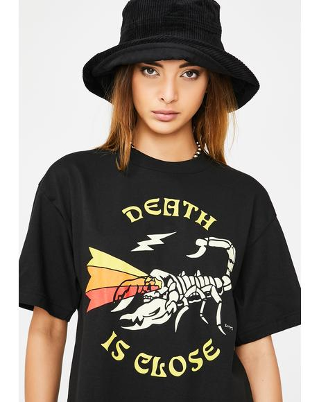 Death Is Close Graphic Tee