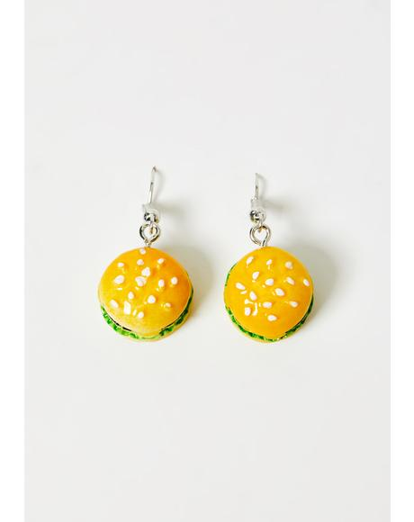 Got The Munchies Burger Earrings