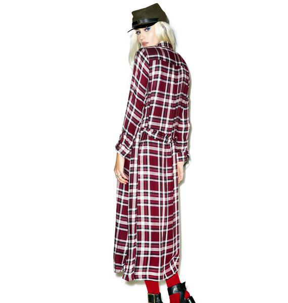 Lazy Grunge Day Duster Dress