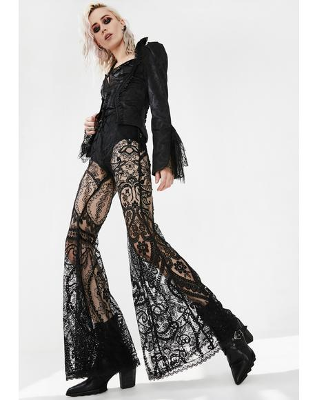 Gothic Paisley Lace Trousers