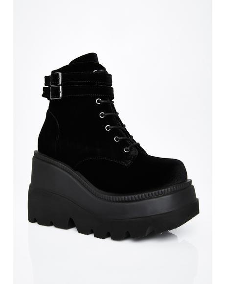 Velvet Technopagan Boots
