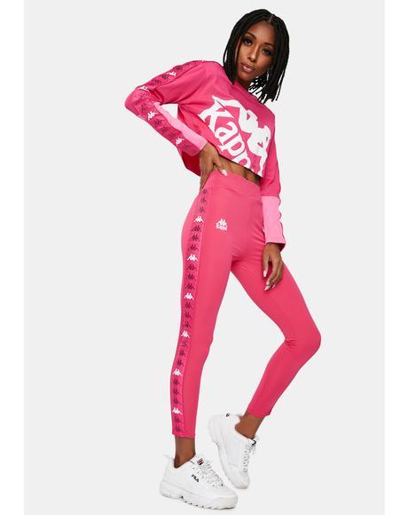 Pink 222 Banda Barter Sport Leggings