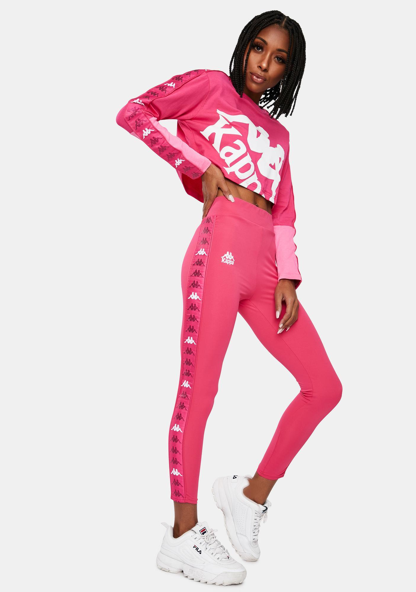 Kappa Pink 222 Banda Barter Sport Leggings