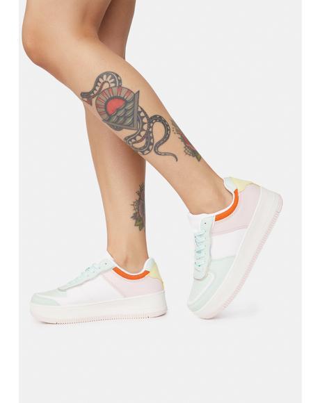 Mint Make It Real Platform Sneakers