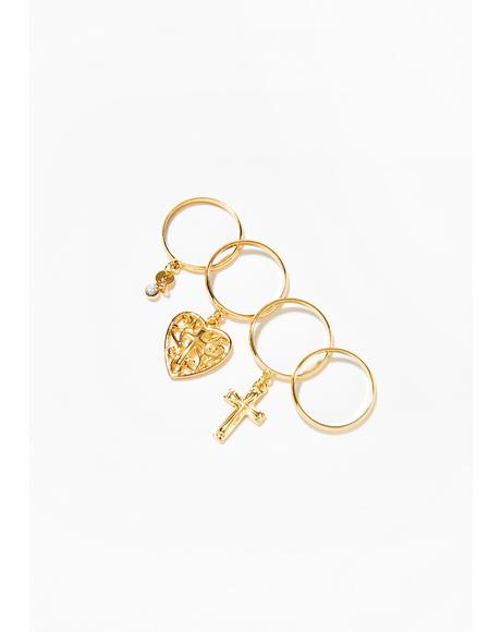 Holy Charm Ring Set