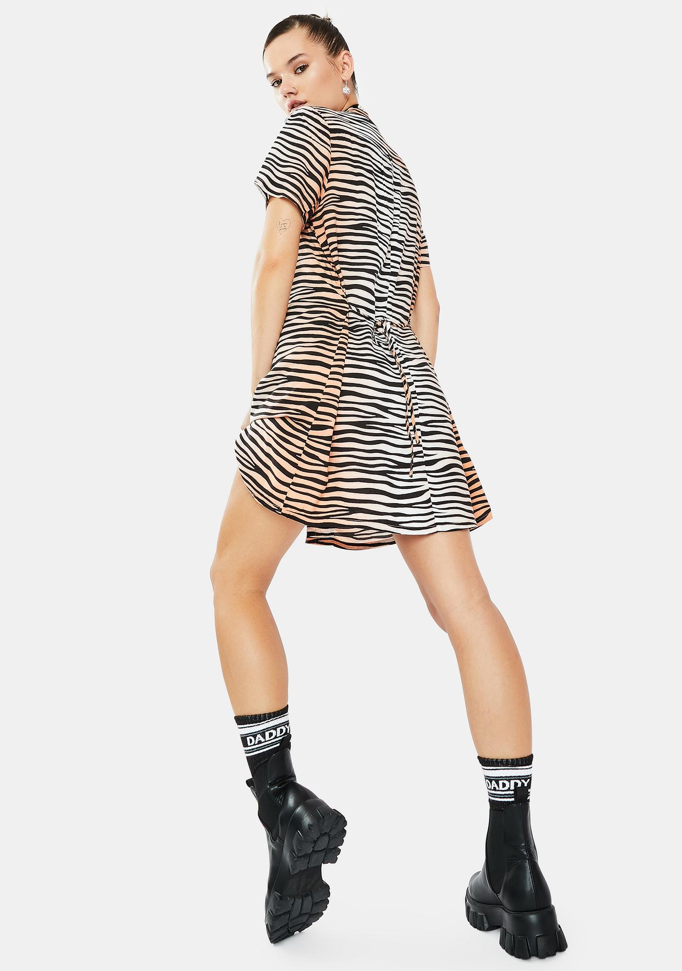 Obey Kitty Tiger Stripe Dress