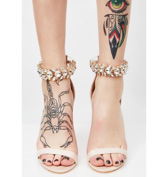 Public Desire Fiji Crystal Ankle Strap Heel