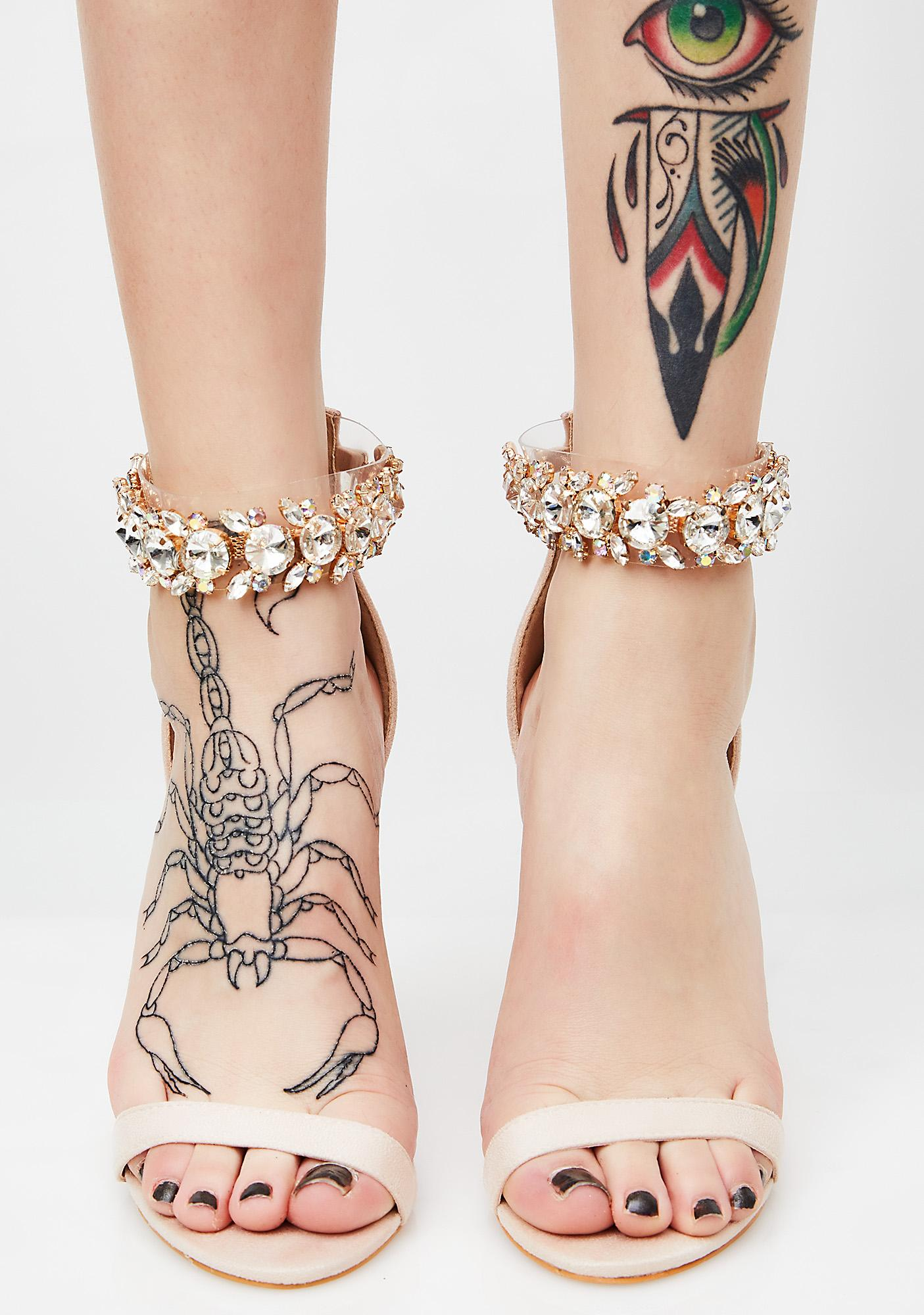 1df52fc26f46 Public Desire Fiji Crystal Ankle Strap Heel