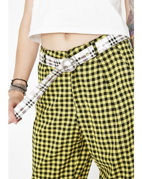 Plaid Of Anarchy Buckle Belt