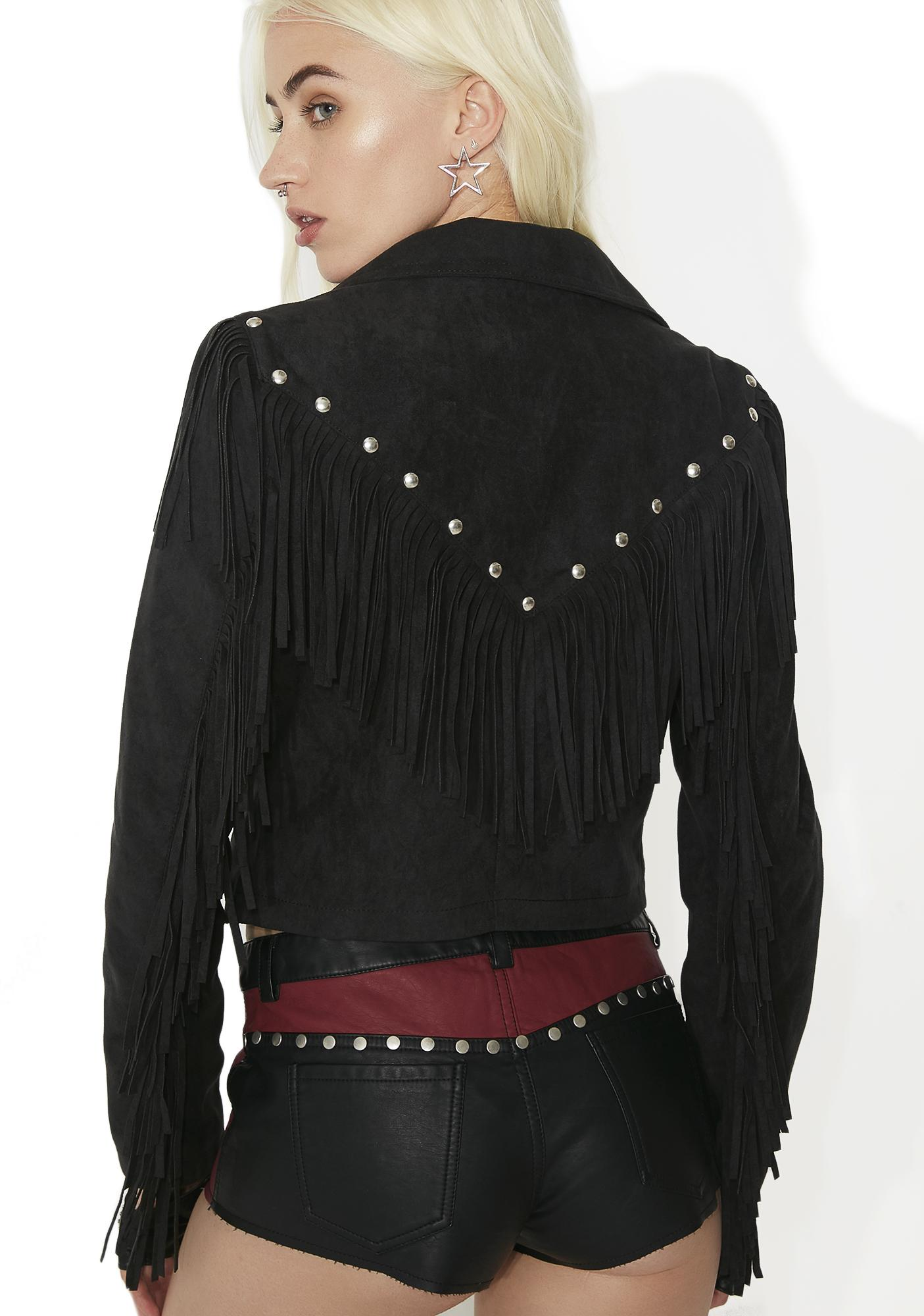 Current Mood Heaven's Reject Fringe Jacket