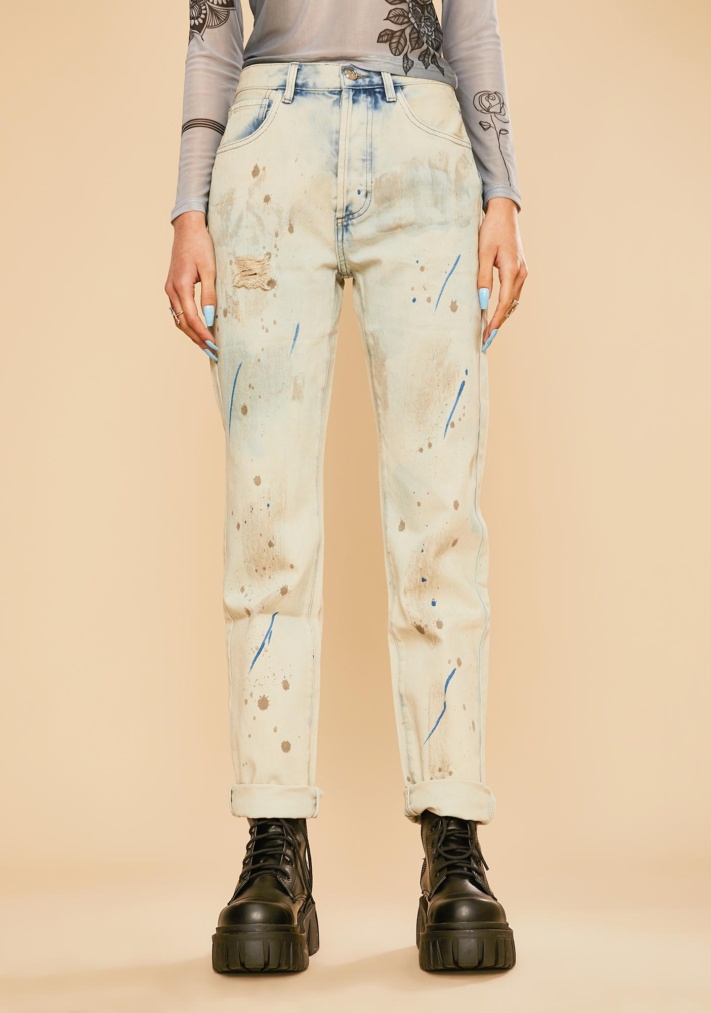 Current Mood Paint The Town Mom Jeans