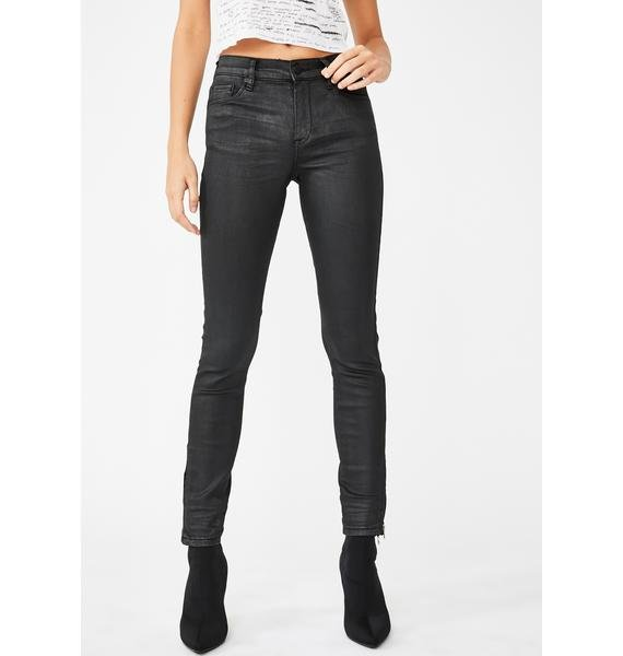 Blank NYC Spartacus Shiny Coated Skinny Jeans