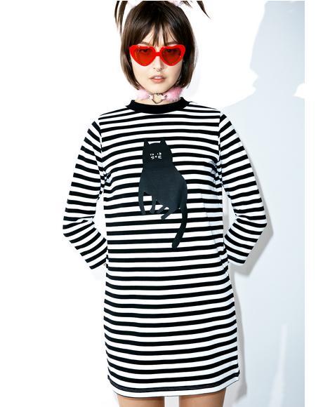 Stripey Cat Dress
