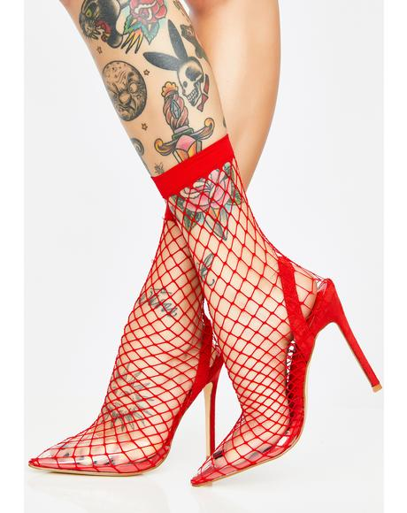 Blaze The Hott Friend Fishnet Heels
