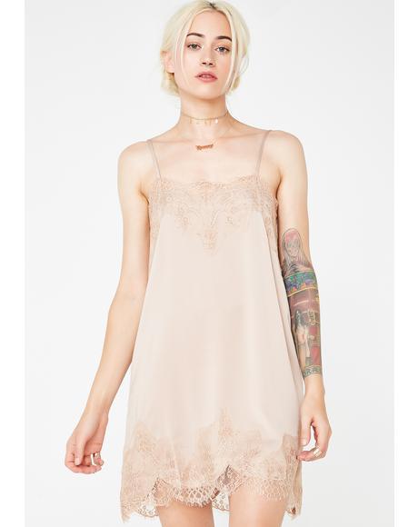 Mocha Minefield Slip Dress