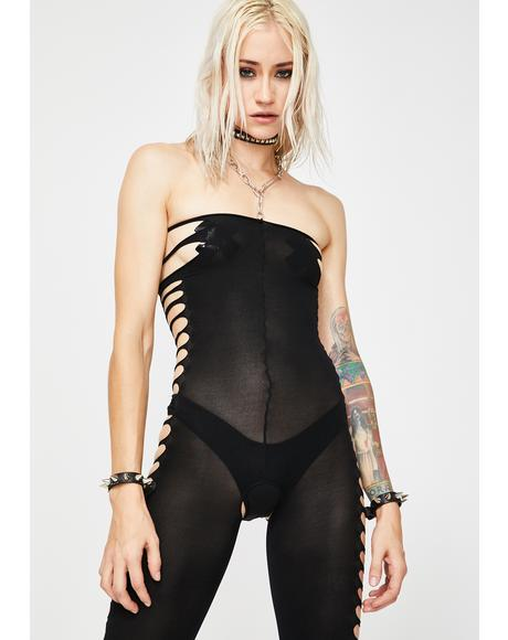 Lost In Lust Cut Out Bodystocking
