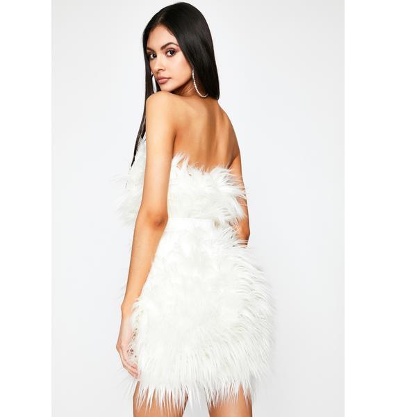 Freaky Elegant Fuzzy Dress