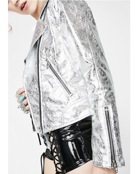 Crystallized Moto Jacket