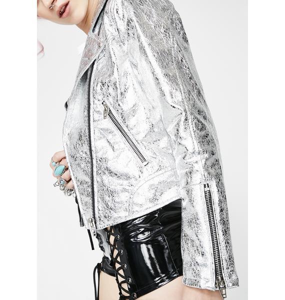 Blank NYC Crystallized Moto Jacket
