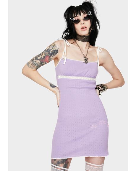 Light Purple Cloud Mini Dress
