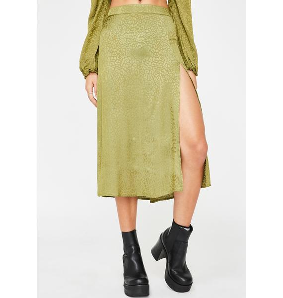 Motel Khaki Cheetah Saika Skirt