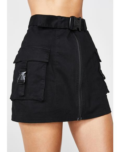 Miss Behaving Cargo Skirt