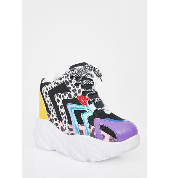 Anthony Wang Life On Paws Platform Sneakers