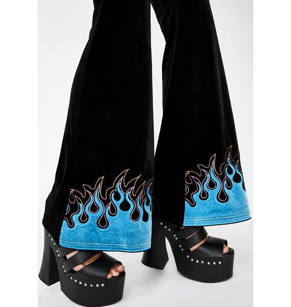 Jawbreaker Flame Flare Leggings