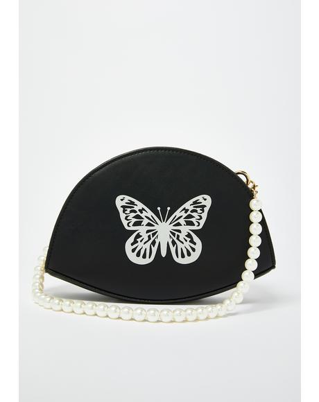 Pearly Dates Butterfly Crossbody Handbag