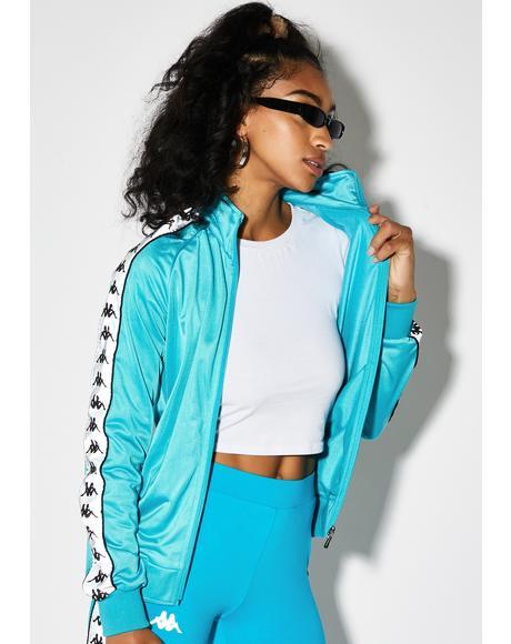 Blue 222 Banda Dolly Reflective Track Jacket