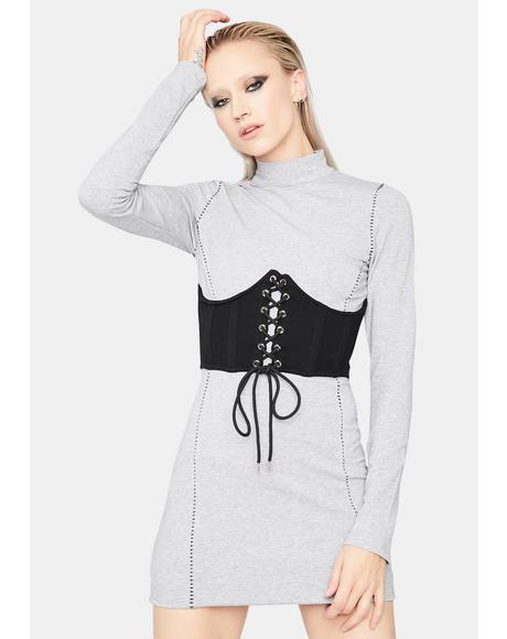 Cold As You Corset Mini Dress