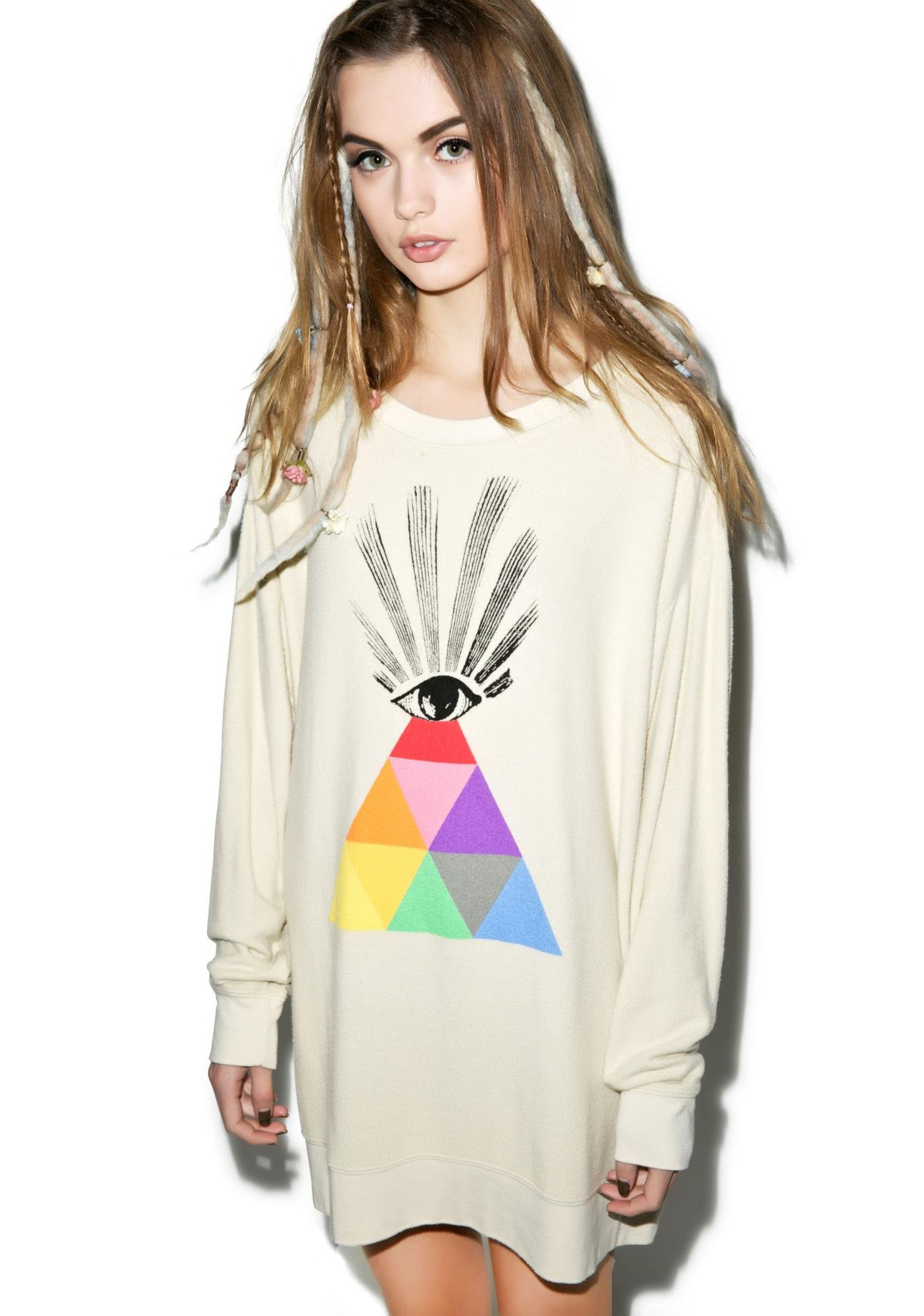 Wildfox Couture All Seeing Eye Roadtrip Sweater Dress