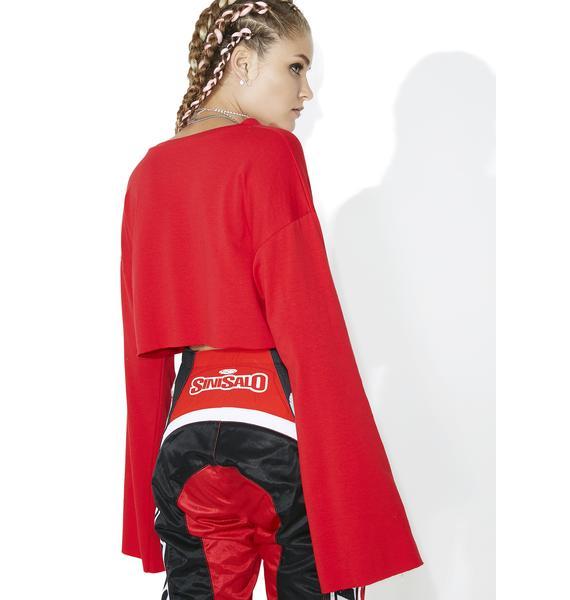 Finish Line Lace-Up Sweatshirt