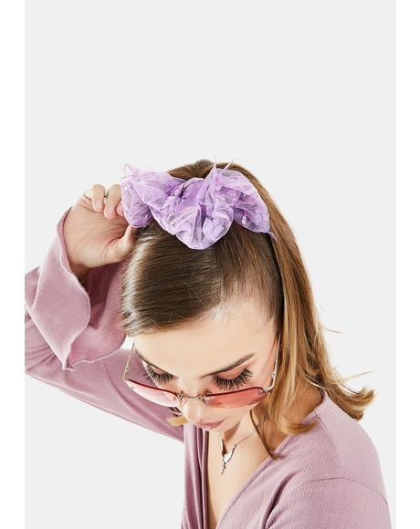 Lavender Quick Fix Hair Scrunchie