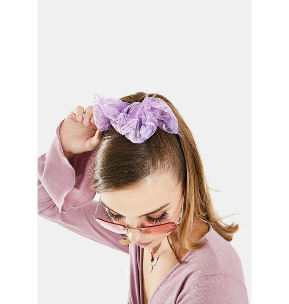 Lavender Quick Fix Hair Scrunchie