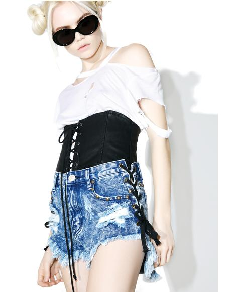 Front Row Lace Up Shorts