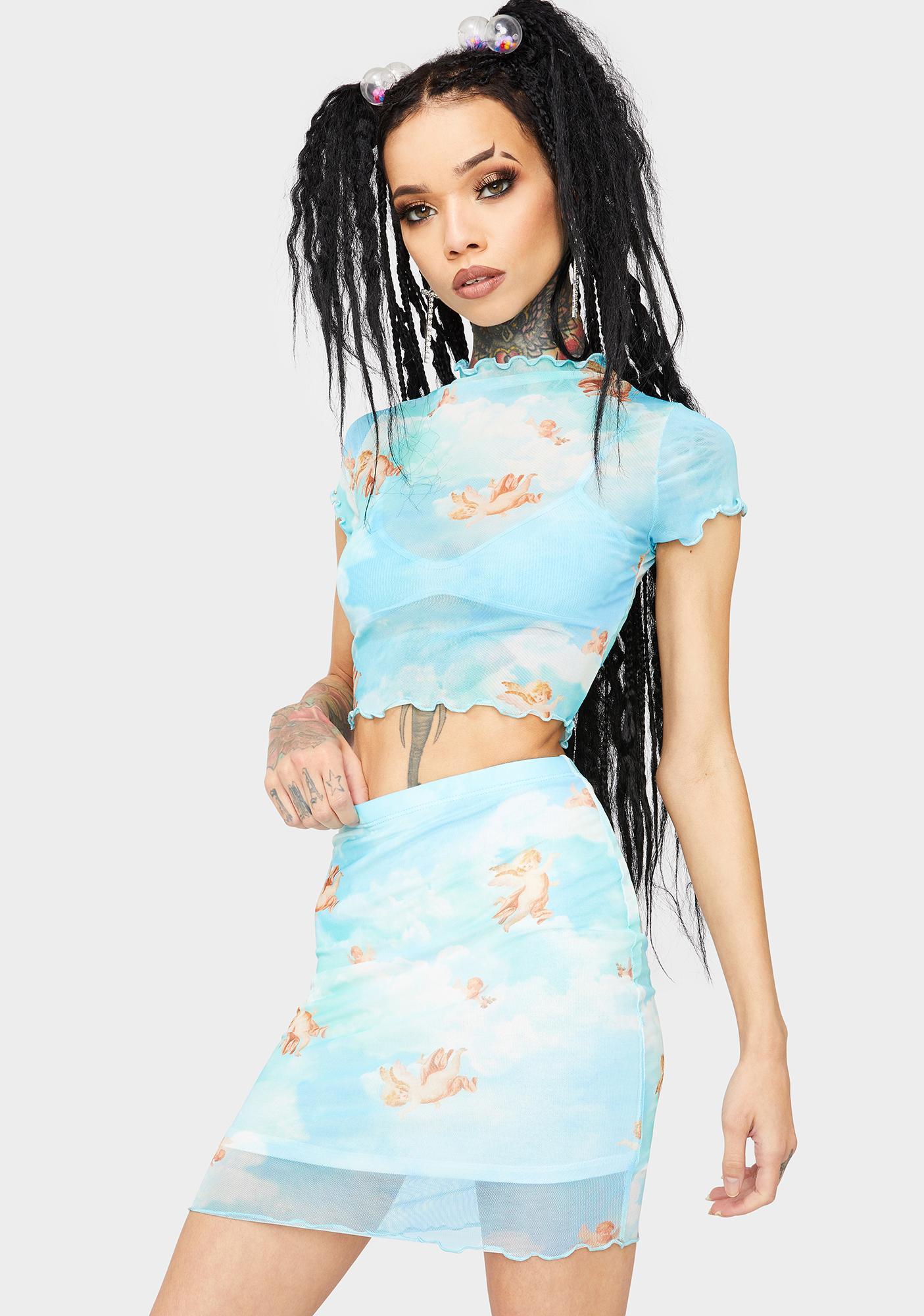 Sky Earn My Wings Skirt Set